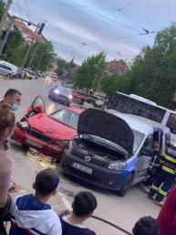 accident intersectia de la Biserica Sfantul Gheorghe Botosani