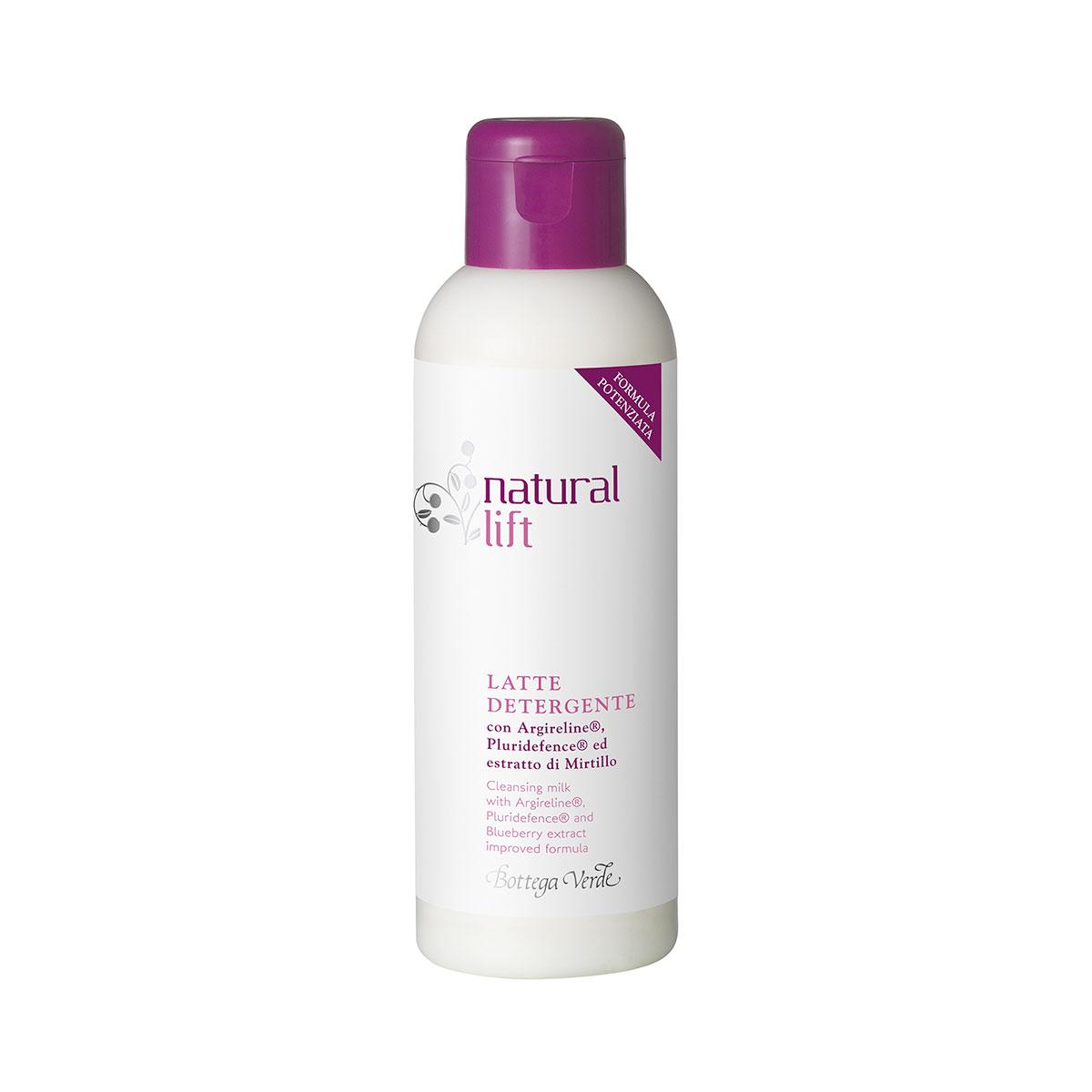 Natural Lift - Latte detergente con Argireline®, Pluridefence®  ed estratto di Mirtillo (150 ml)