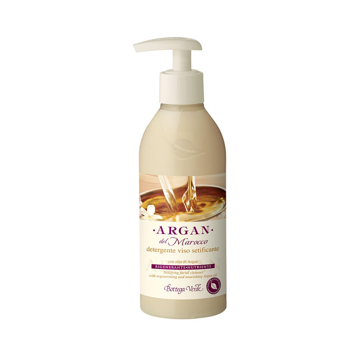 Argan del Marocco - Detergente viso setificante con olio di Argan rigenerante nutriente (250 ml)