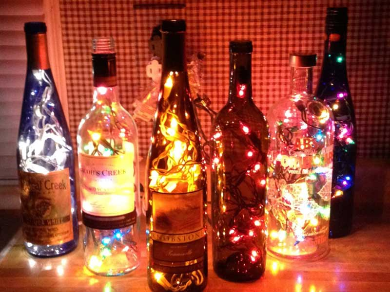 Angels Bottles With Lights Diy Using Liquor