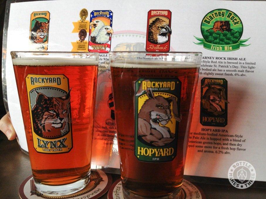 Redhawk and Blarney Rock Ale at Rockyard Brewing Company, Castle Rock CO.