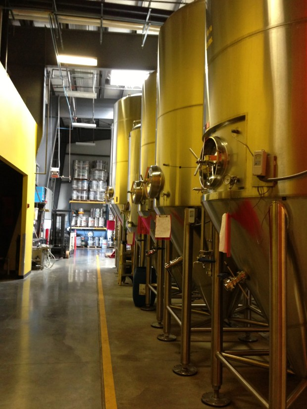 Inside the Fort Collins Brewery.
