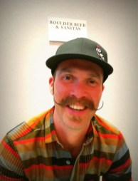 Boulder & Sanitas had great beer AND this amazing 'stache!