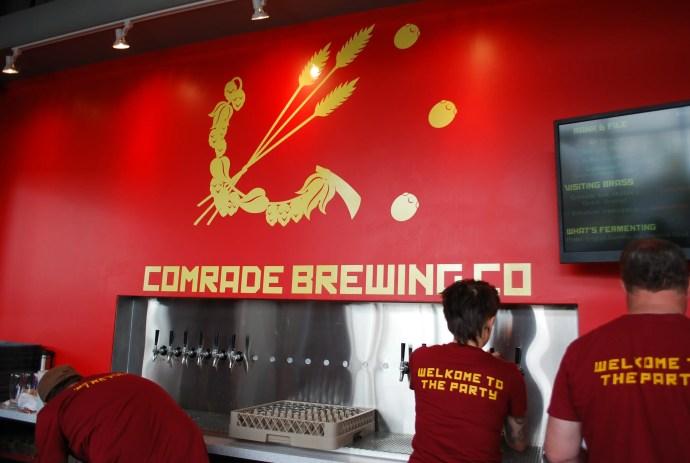 Comrade Brewing Company's bar