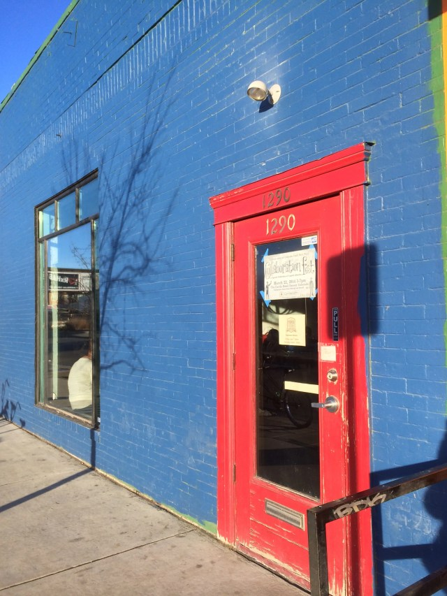 Behind this nondescript door you'll find some tasty brews!