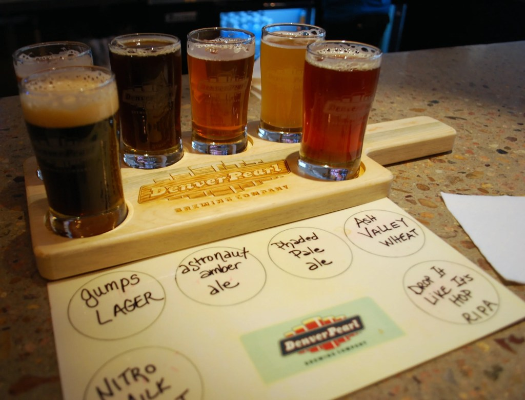 Tasting Paddle @ Denver Pearl Brewing Co