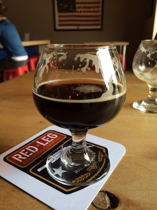 Devil Dog Stout at Red Leg Brewing Company