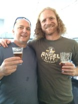 Jeff with Dieter, head brewer at Angel City Brewery