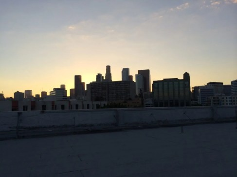 The view of LA from the Angel City rooftop.