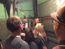 The elevator ride to the roof... scary!