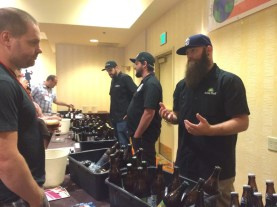 Brewers from Belching Beaver, New English and Green Flash - showing off the traditional brewer facial hair options.