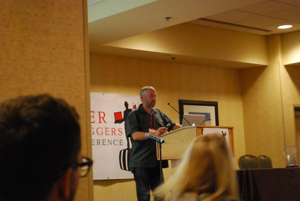 Ken Grossman of Sierra Nevada giving the keynote