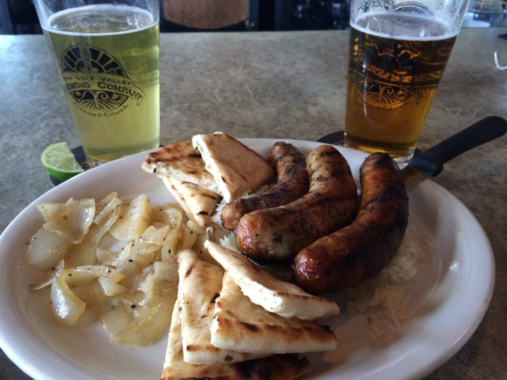 Beer + Sausage at San Luis Valley Brewing