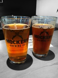 The Peach Blonde Ale and Red IPA at Mockery Brewing Co, Denver CO | BottleMakesThree.com