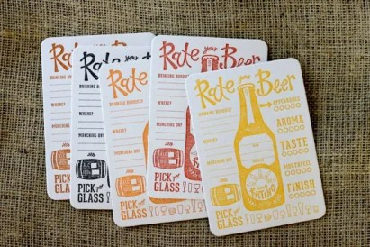 Great Beer Gifts: Rate Your Beer coasters | Bottlemakesthree.com