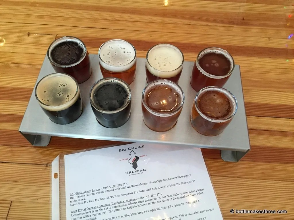 Big Choice Brewing, Broomfield CO | bottlemakesthree.com