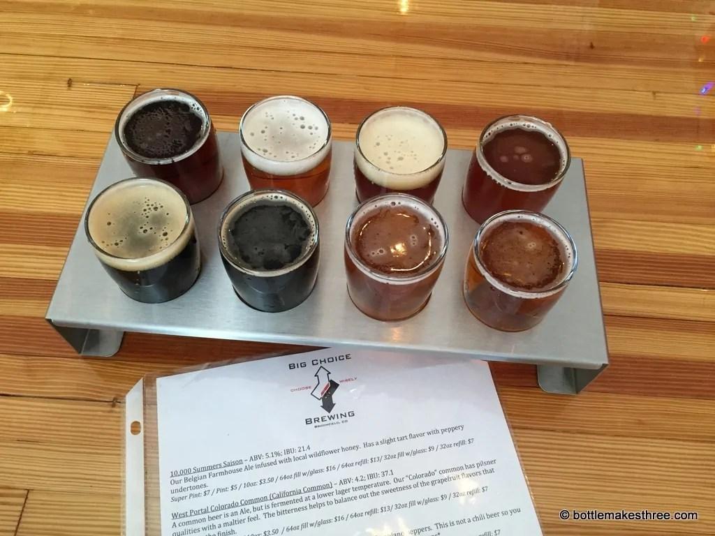 Big Choice Brewing, Broomfield CO | bottlemakesthree.com