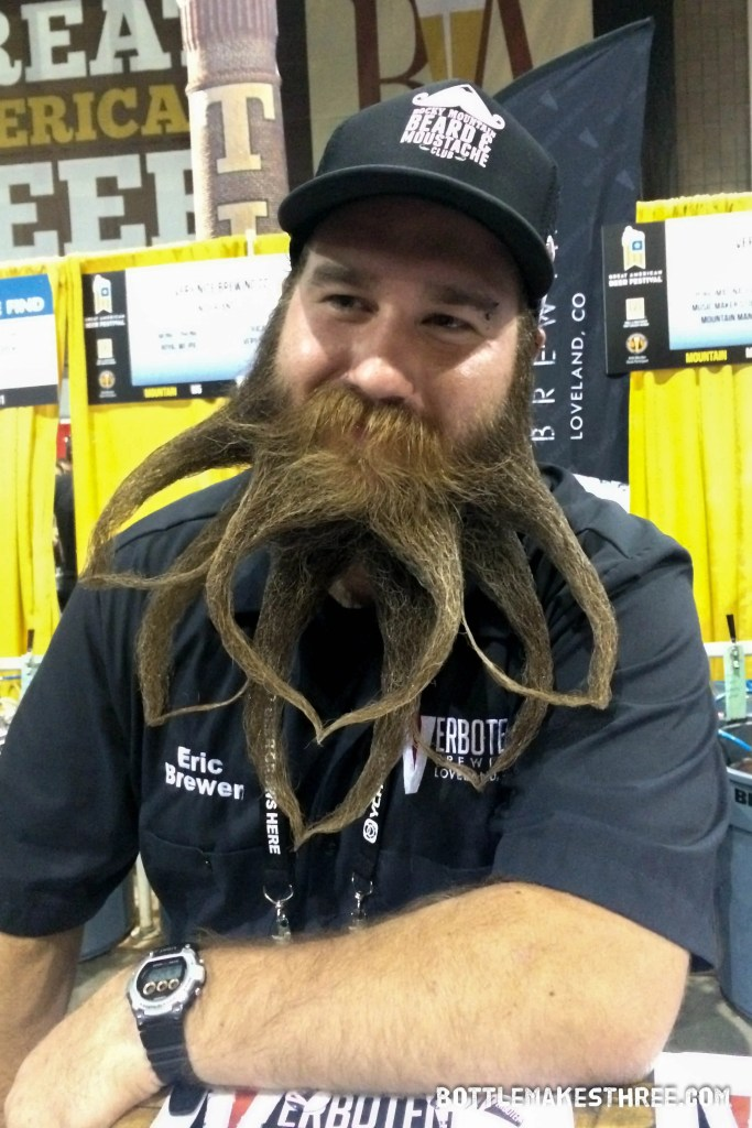 The best beer beard at GABF 2015, hands down! Check out our article for more of the Best of GABF | BottleMakesThree.com