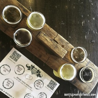 Tasters at Wicked Weed Brewing, Asheville NC