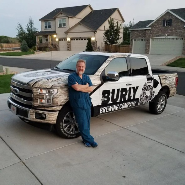 George Goodman of Burly Brewing Company. Look for Burly Brewing Co to open in Castle Rock in early 2018   BottleMakesThree.com