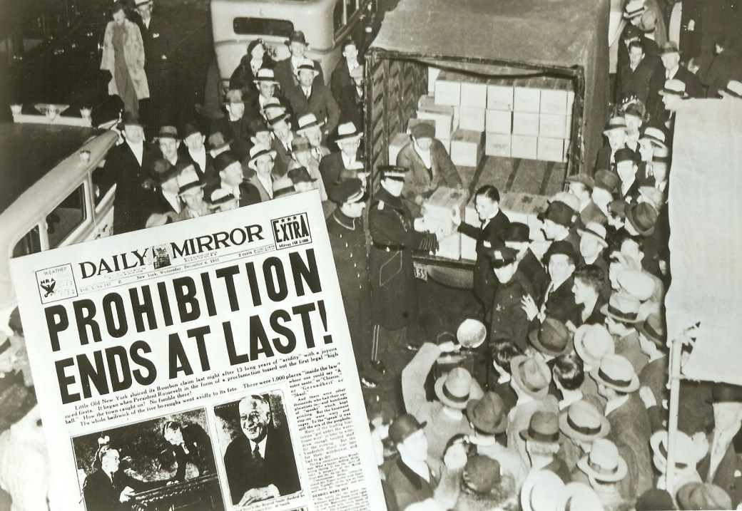 The end of prohibition, December 5, 1933