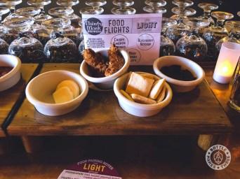 Food flights at Thirsty Monk Denver