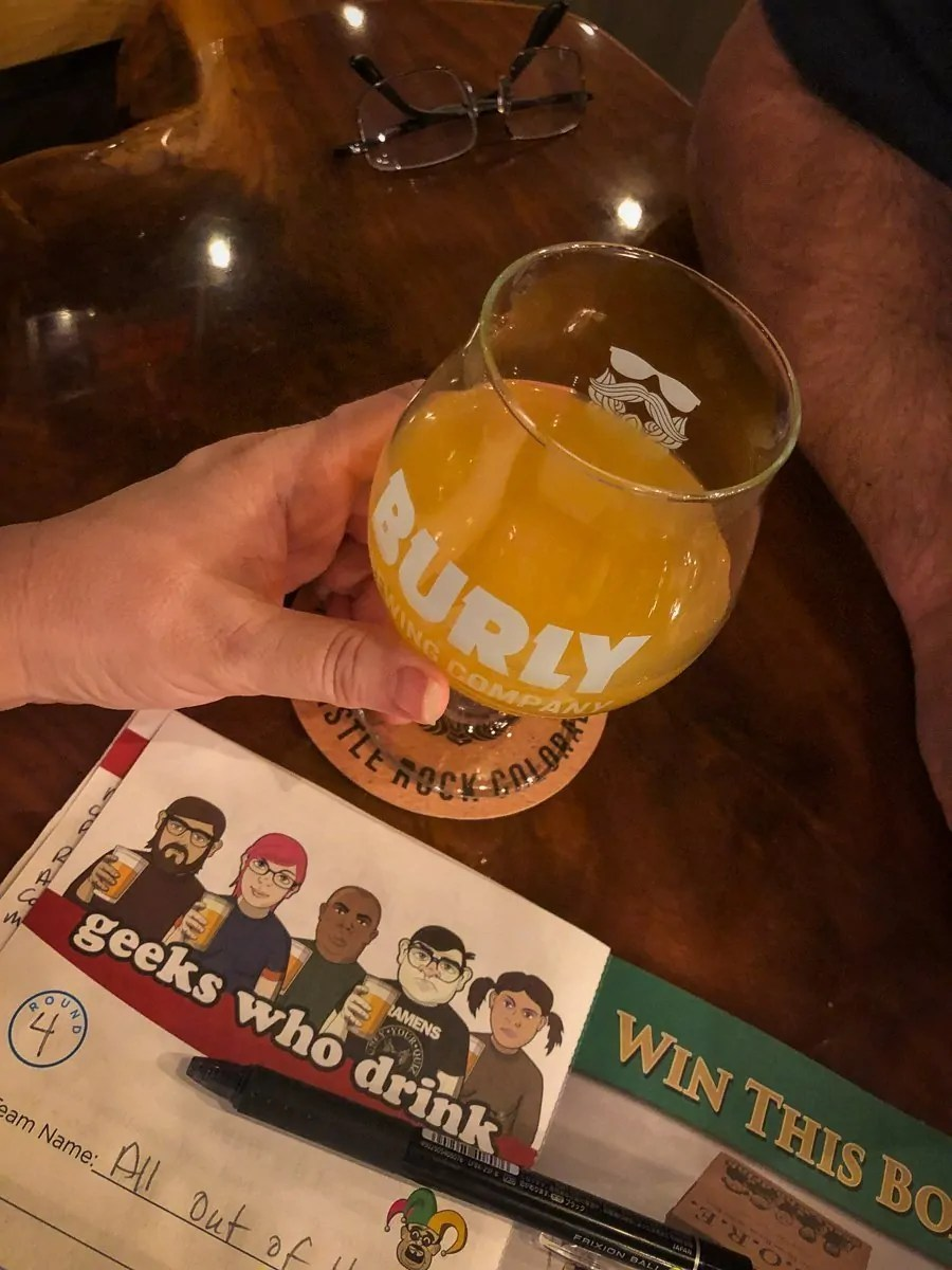 Geeking out over beer and trivia at BURLY Brewing Company, a craft brewery in Castle Rock, Colorado