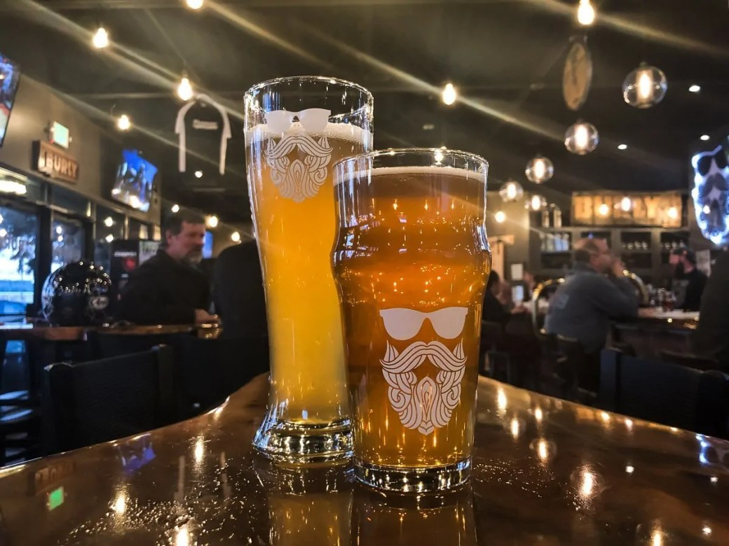 Beers at BURLY Brewing Company, a craft brewery in Castle Rock, Colorado