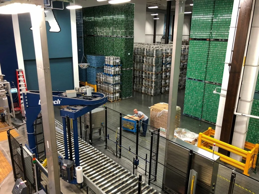 Inside the Dogfish Head Brewery in Milton, Delaware