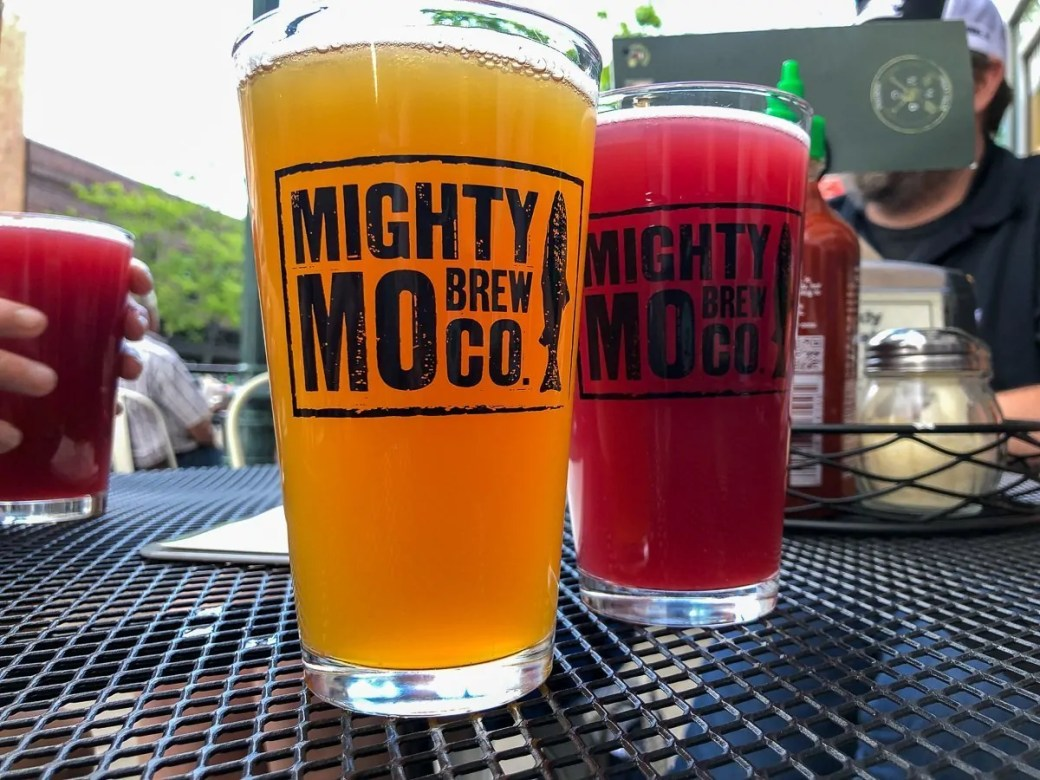 Craft beer at the Mighty Mo Brewing Company in Great Falls, MT