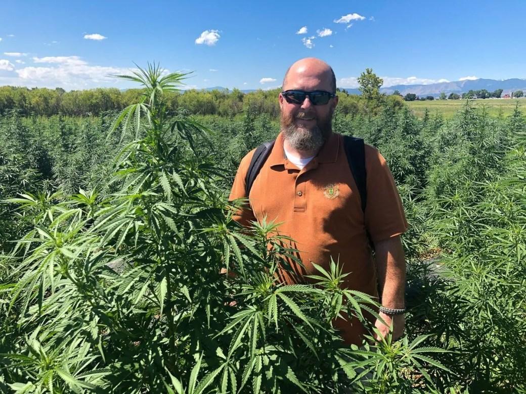 Cheers from Colorado! Taken at the WAAYB Organics hemp farm, a USDA Certified Organic industrial hemp farm in northern Colorado.