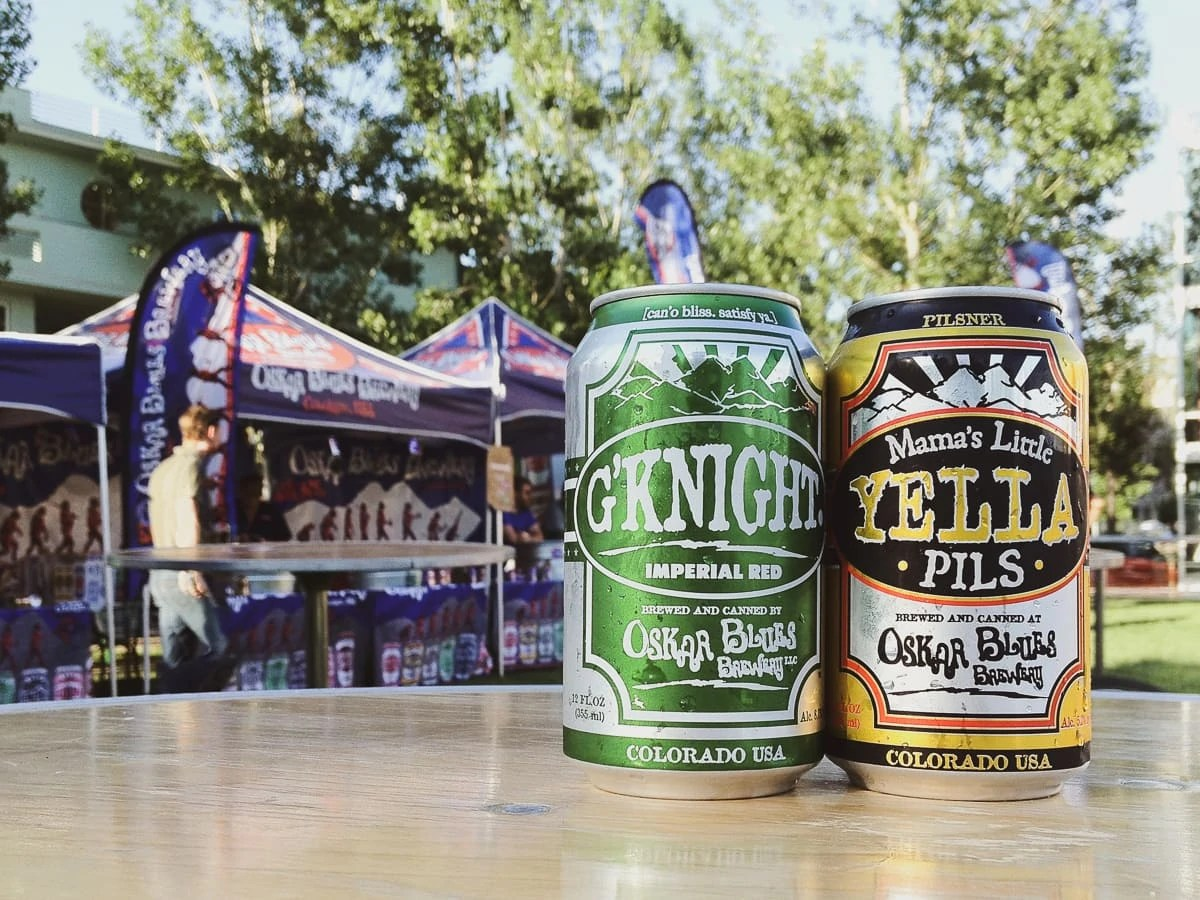 Oskar Blues beer at the G'Knight Ride, Longmont CO (2012)