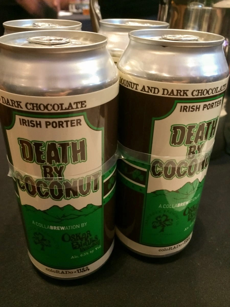 Oskar Blues Death by Coconut beer