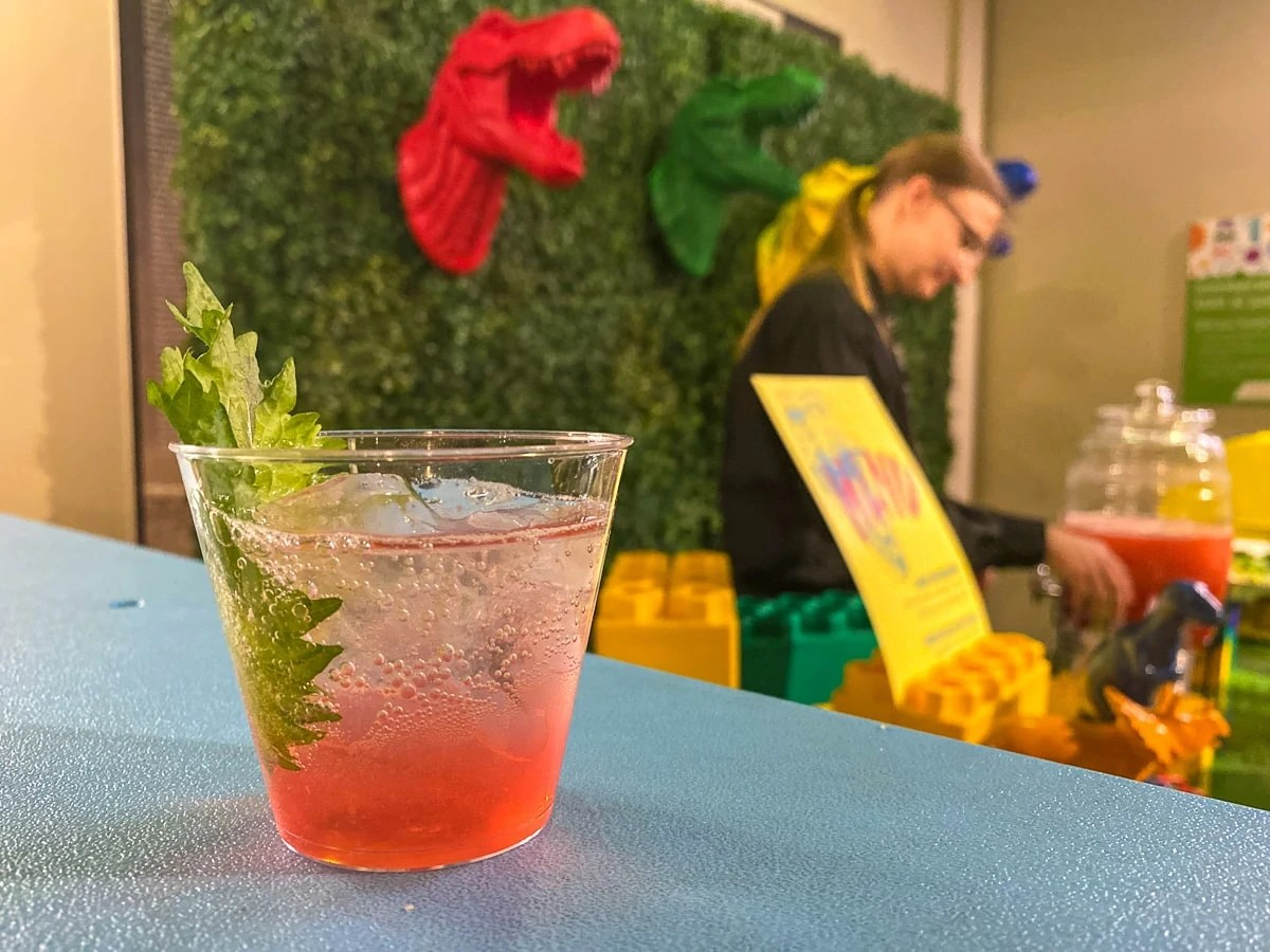 This Shiso Pre-Historic Cocktail by Catering by Design - Ales, Apps, & Barrels of Fun at the Childrens Museum of Denver at Marsico Campus