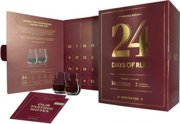24 Days of Rum Rumový kalendár 2021 24 x 0,02l + 2 poháre
