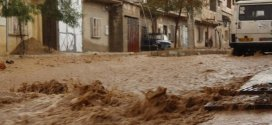 حسائر بحي اول نوفمبر ببوسعادة بعد الامطار الطوفانية