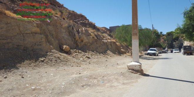 مشروع توسعة طريق يحتاج دعم السلطات المحلية ببوسعادة . صور