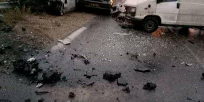 حادث مرور بين سيدي عامر وبوسعادة