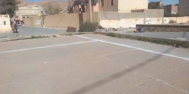 بداية مشروع إنجاز الوكالة البريدية بشارع المجاهد والي ساعد  ببوسعادة.