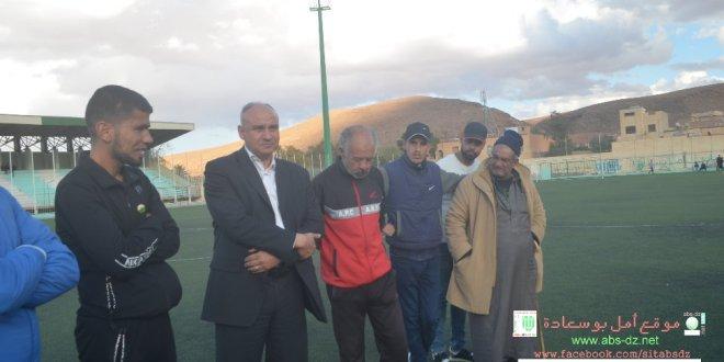 فيديو زيارة رئيس دائرة بوسعادة س نفلة لاواسط امل بوسعادة المتاهلين لنهائي كأس الجزائر