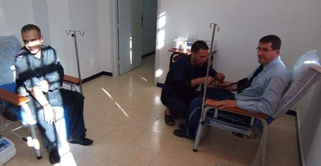 """حملة تبرع بالدم بشعار """"إنقاذ الحياة هو انشغالنا لأمن دائرة جبل امساعد"""
