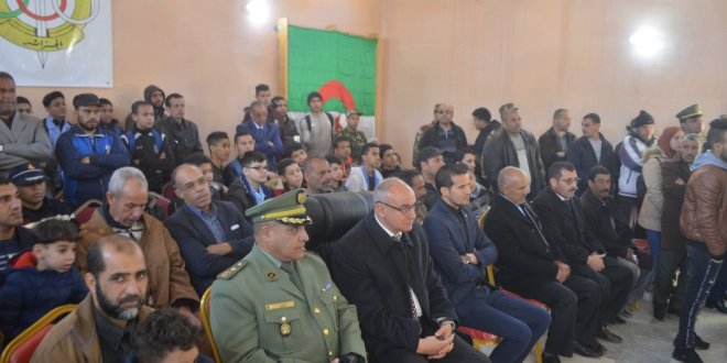 أفتتاح الايام الاعلامية حول مركز التدريب لمدفعية الميدان  ن ع 1 الشهيد على بن نوي ببوسعادة