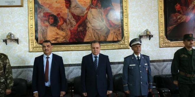 السيد ابراهيم أوشان والي ولاية المسيلة يشرف على فعاليات الاحتفال باليوم العالمي للحماية المدنية