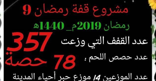 جمعية أحباب مدينة بوسعادة .. توزيع 357 قفةالى غاية اليوم الثاني من رمضان