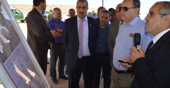 السيد ابراهيم أوشان والي ولاية المسيلة يقوم بزيارة التقنية لمشاريع قطاع الأشغال العمومية