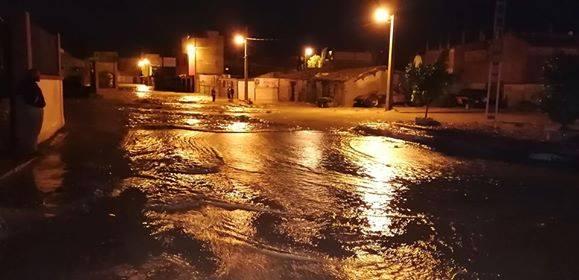 تدخلات فرق الحماية المدنية بالمسيلة خلال السيول  … صحافة