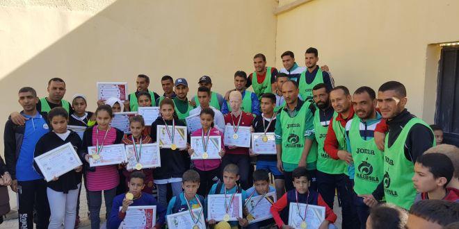 اجراء المرحلة ألاولى من السباق المدرسي للاصناف الصغرى بمدينة بوسعادة