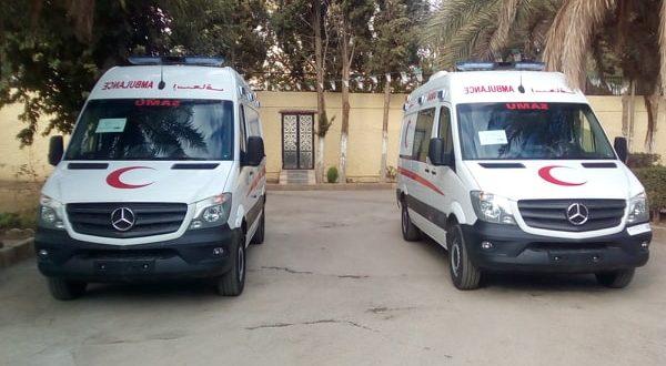 السيد الشيخ العرجا والي ولاية المسيلة يشرف على تسليم سيارتي اسعاف  لمستشفى المسيلة و  سيدي عيسي