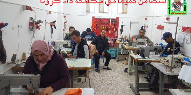 مؤسسة هدروق للخياطة تواصل حملتها بصناعة الكمامات وتدعوا المحسنيين