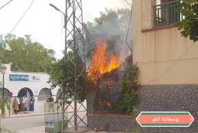 حريق بجانب فندق بوسيجور والحماية المدنية تتدخل